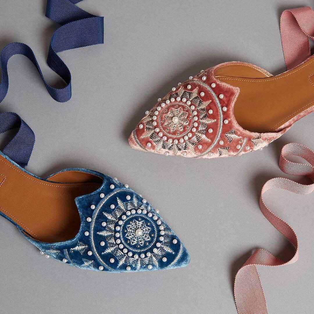 Shimmering, Sparkling Footwear: Late 2017 Footwear Trends