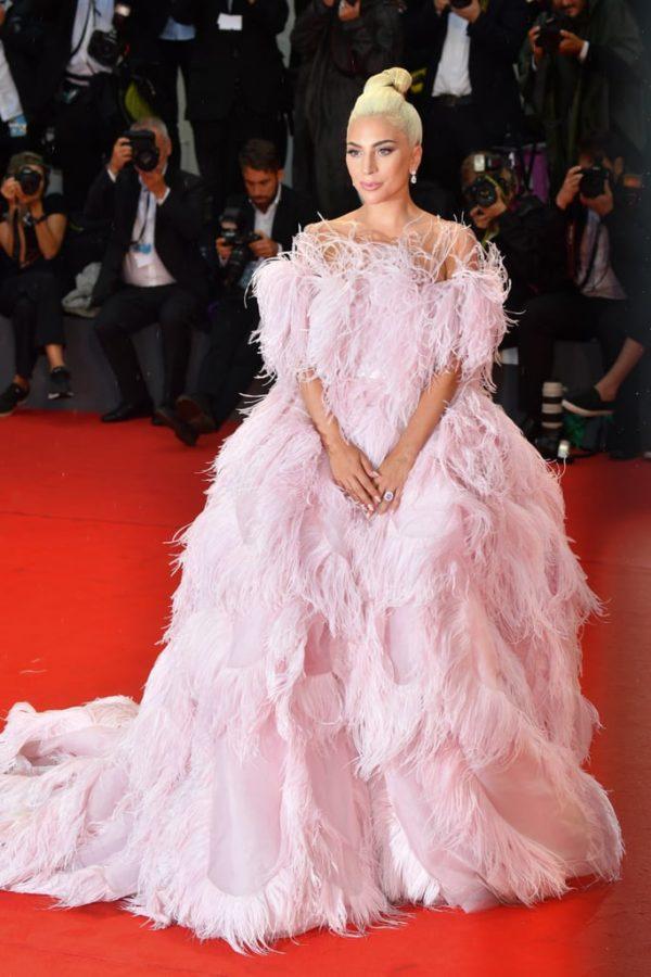Lady-Gaga-Pink-Valentino-Dress-Venice-Film-Festival